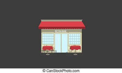 Restaurant Building Animation