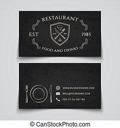 Restaurant business card template.