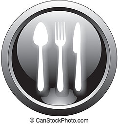 restaurant button or icon
