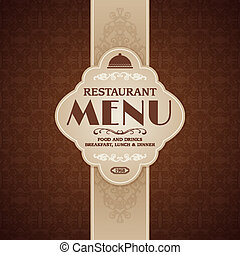 Restaurant cafe menu brochure template with cooking elements...