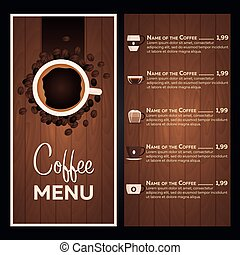 Restaurant cafe menu. Coffee Menu.