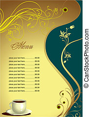 Restaurant (cafe) menu. Colored vector illustration for...