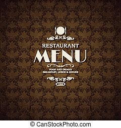 Restaurant cafe menu cover template