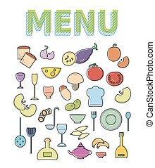 Restaurant cafe menu template design.