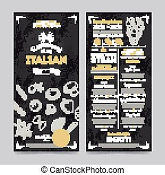 Restaurant cafe menu template design, vector