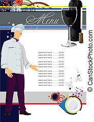 Restaurant (cafe) menu. Vector ill