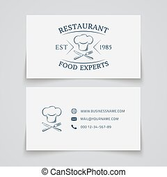 restaurant., carte affaires, gabarit