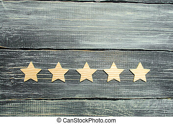 restaurant, classement, concept, reussite, business, evaluation., acheteur, service, application., hôtel, arrière-plan., choice., cinq, mobile, étoiles, sombre, qualité