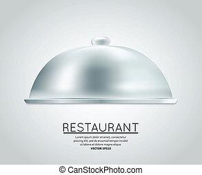 Restaurant cloche food tray