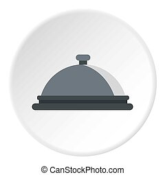 Restaurant cloche icon circle