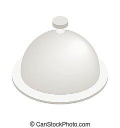 Restaurant cloche isometric 3d icon