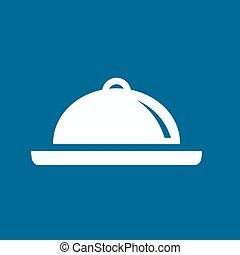 Restaurant cloche .vector icon