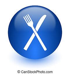 restaurant computer icon on white background - web icon on...