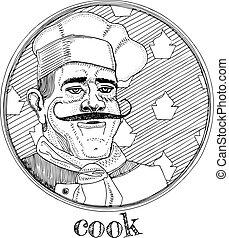 Restaurant cook profession portrait