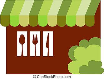 restaurant, dîneur, bistro, ou