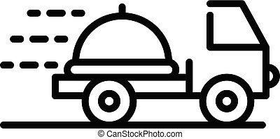 Restaurant delivery icon, outline style