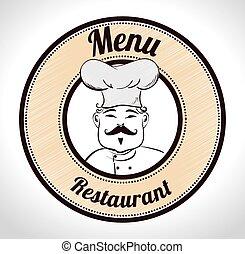 Restaurant design. - Restaurant design over white background...