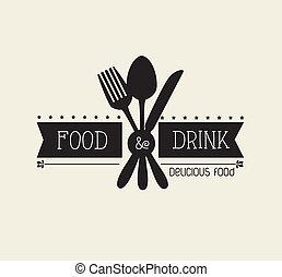 Restaurant design over beige background,vector illustration