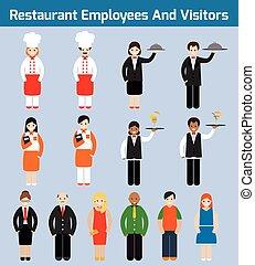 Restaurant employees flat
