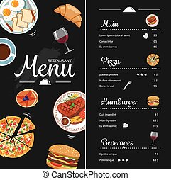 Restaurant food menu design. Fresh food restaurant design ...