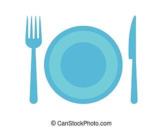 Restaurant food services graphic design, vector illustration...