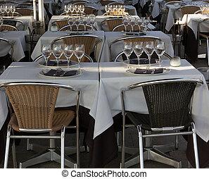 restaurant foreground