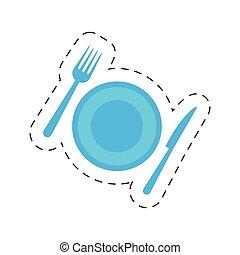 restaurant hotel plate fork knife