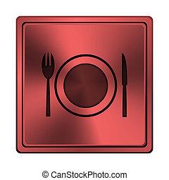 restaurant, icône