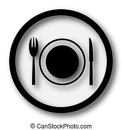 Restaurant icon. Internet button on white background.