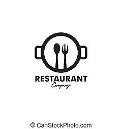 Restaurant icon logo design vector illustration