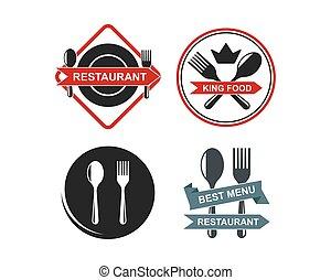 restaurant icon logo vector illustration design