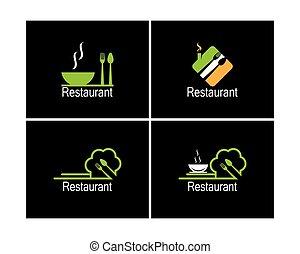 Restaurant icon logo vector illustration