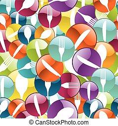 Restaurant Icon pattern background