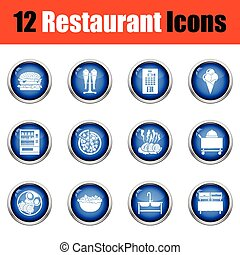 Restaurant icon set.