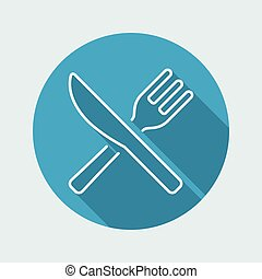 Restaurant icon - Thin series