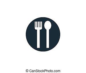 Restaurant Icon Vector Logo Template Illustration Design