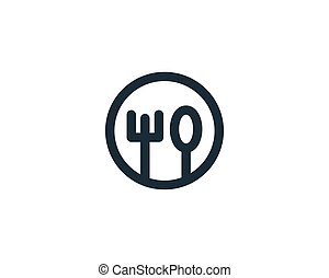 Restaurant Icon Vector Logo Template Illustration Design
