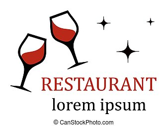 restaurant icon with wine glass