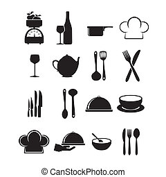 restaurant, iconen