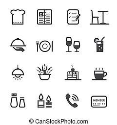 restaurant, iconerne