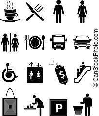 Restaurant icons set