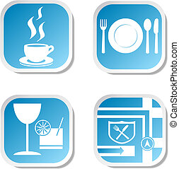 Restaurant icons. Vector illustration eps 10