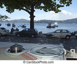 Restaurant in front sea