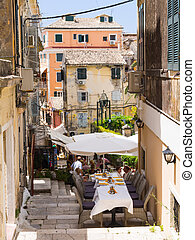 Restaurant in Kerkyria - Corfu Town - Restaurant on the...