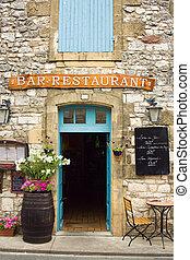 Typically French restaurant doorway