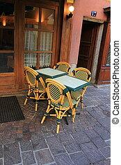 Restaurant in the street