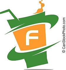 restaurant, initiale, boisson, f