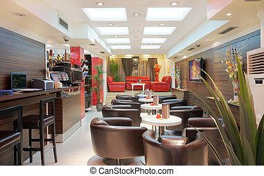 Restaurant interior - Interior of a restaurant, modern...