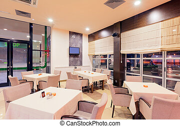 Restaurant interior - Modern restaurant interior, part of a...