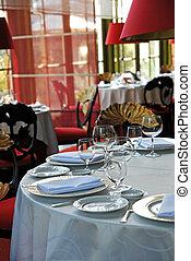 restaurant interior - restaurant table in classic style ...